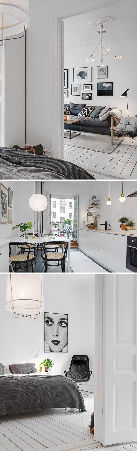 Den här lägenheten som ligger ut till salu på Kungshöjd i centrala Göteborg är rena rama designbingot. Louis Poulsen-lampor, Snö-byråer, Carl Bengtsson-print, Safarifåtöljer och så en Örsjö Kvist på det. Man skulle kunna tro att de som bor här jobbar...
