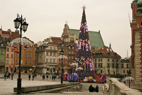 POLAND, WARSAW, Old Town Christmas by Anna Dymkowska-Kowalska, via Flickr