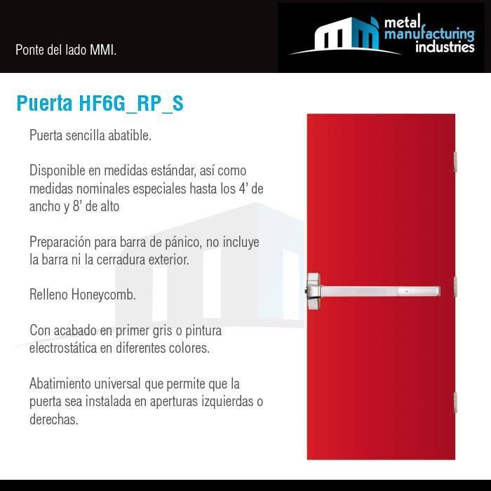 La puerta hf6g rp s es ideal para espacios al exterior en for Contacto para exterior