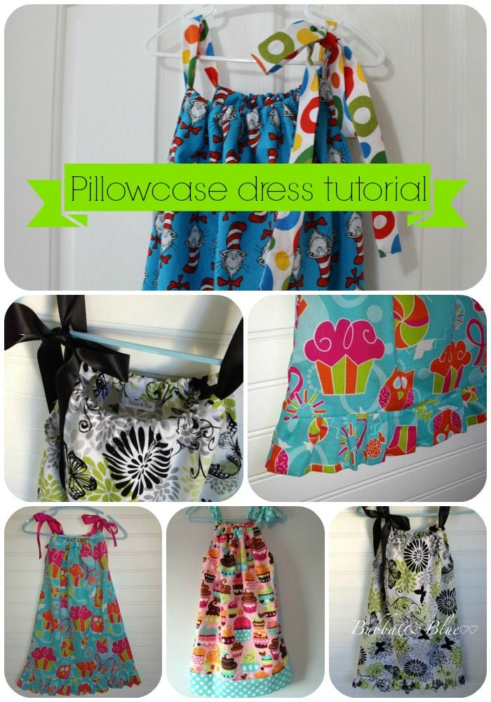 Free sewing tutorial for pillowcase dress - My little boy blue