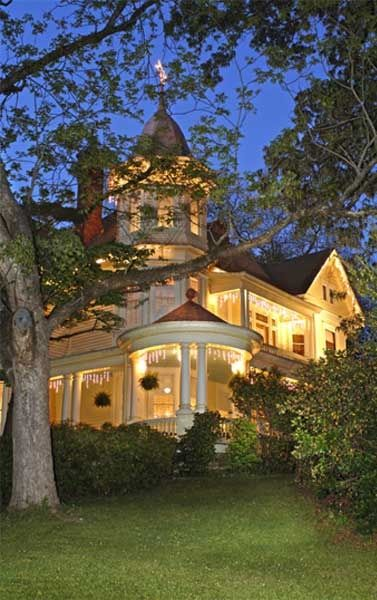 """Amazing lightning in Victorian style house  Looks like the house in the movie """"Roxanne""""!"""