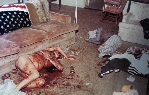 Folger and Tate crime scene . Manson Murders .