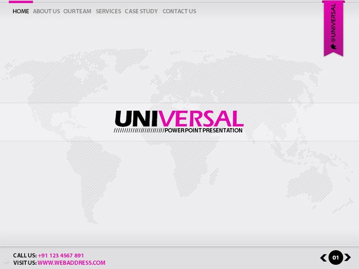 Universal Power Point Presentation Template  Power Point