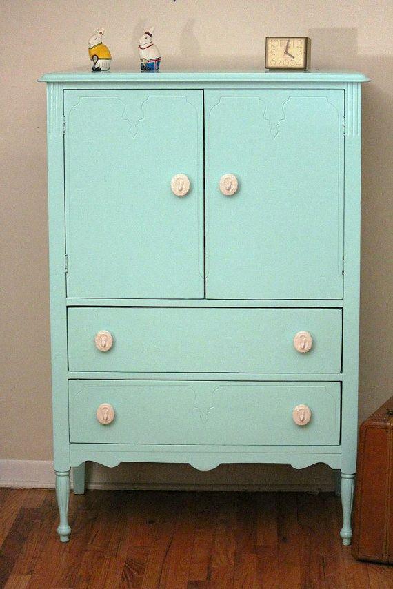 Mint Dresser / hold for Melanie por LaVantteHome en Etsy