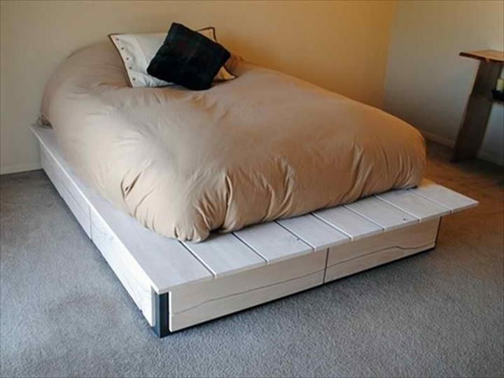 42 DIY Recycled Pallet Bed Frame Designs   101 Pallet Ideas - Part 3
