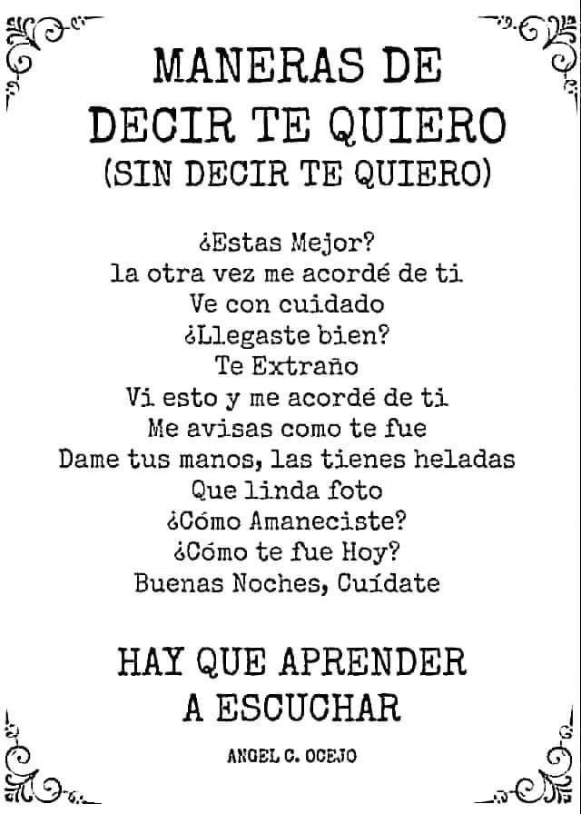 Poema Para Decir Te Quiero Sin Decirlo Decir Te Quiero Sin Decirlo Decir Te Quiero Frases De