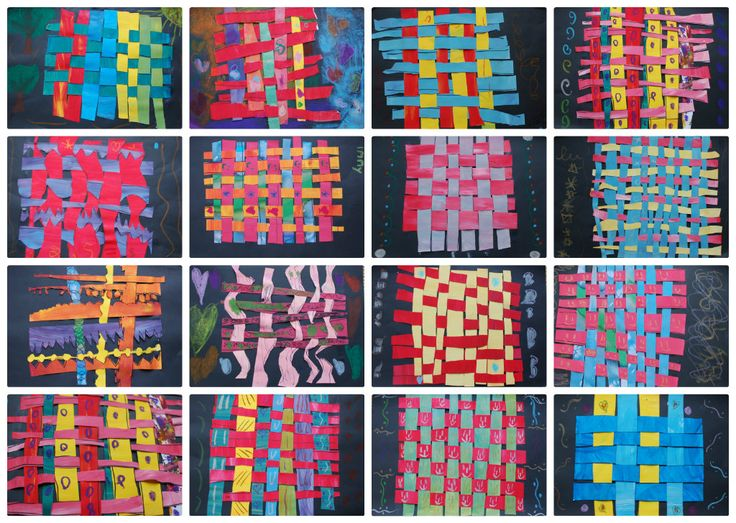 kids weaving with paper - Google Search
