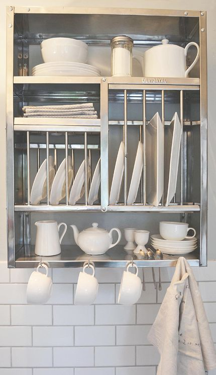 Are you interested in our stainless steel plate rack? With our industrial metal kitchen storage you need look no further. & 30 best Vintage plate rack images on Pinterest | Plate racks Dish ...
