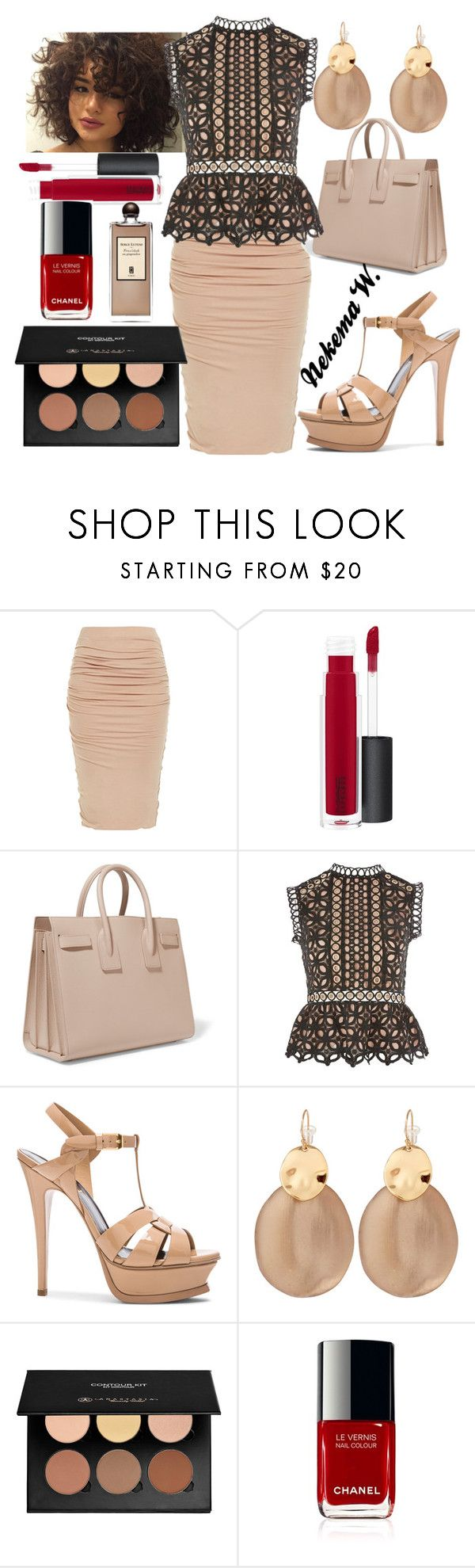 """""""Monday Work Wear📂💼"""" by sexyshonda ❤ liked on Polyvore featuring MAC Cosmetics, Yves Saint Laurent, Topshop, Alexis Bittar, Anastasia Beverly Hills and Serge Lutens"""
