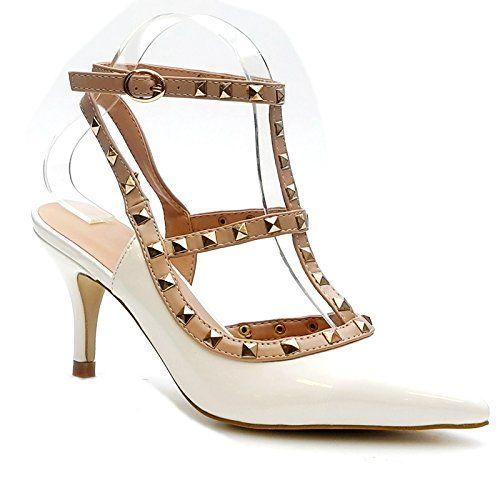 Kayla shoes Damen Elegante Design Stiletto Pumps LL59 White 39 - http://on-line-kaufen.de/kayla-shoes/39-eu-kayla-shoes-damen-elegante-design-stiletto-16