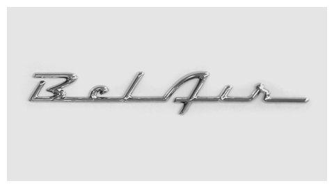 chevrolet bel air 1956 chrome script trunk emblem