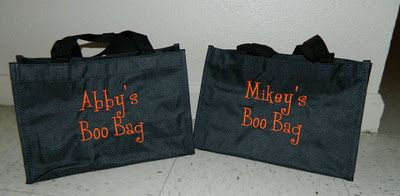 thirty one halloween bags - These are so great and they can be used again and again.