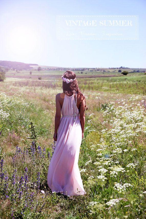 NIEUWE droom Maxi jurk Vintage zomer jurk Boho kleding