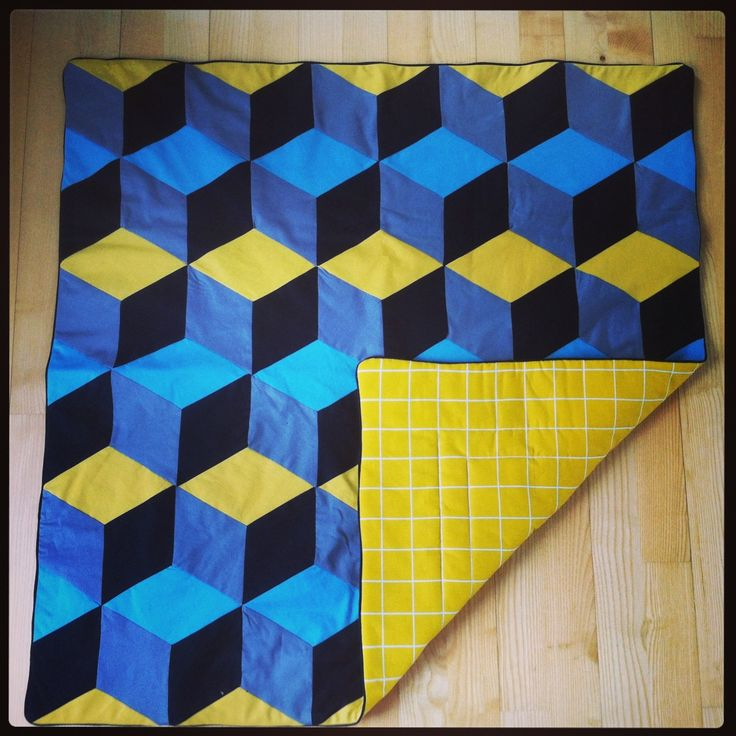 Patchwork Quilt Baby Blanket With 3d Effect Byskov