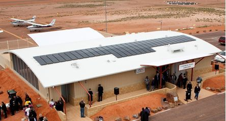Curved Ritek Roof used at Coober Pedy airport.
