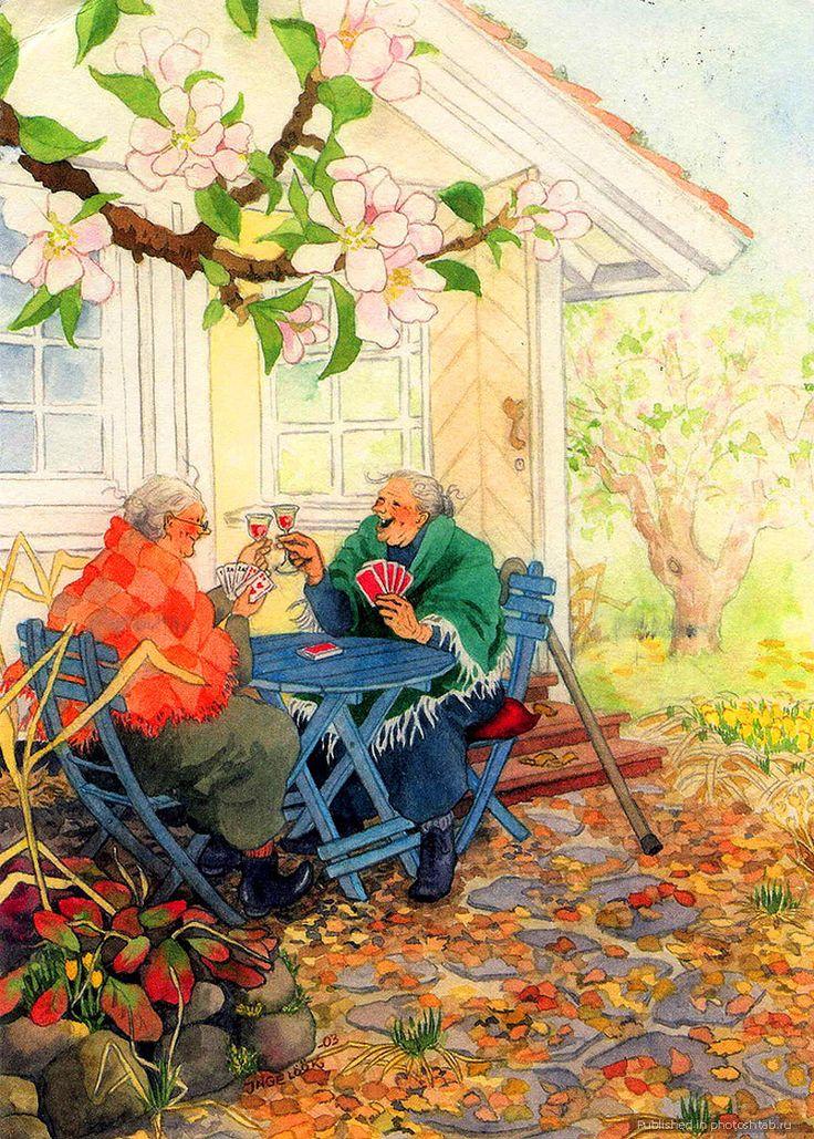 Старушки веселые открытки, марта рисунки карандашом