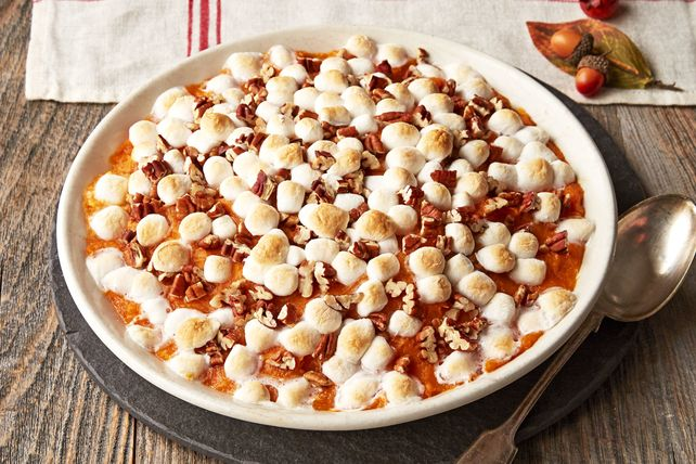 Delight in this rich Maple-Sweet Potato Casserole recipe tonight. The perfect side dish, our Maple-Sweet Potato Casserole can also be made ahead.