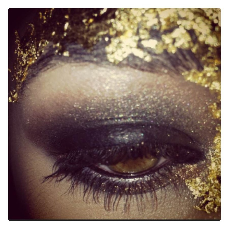 #latonas #makeup  Smokey eye using Kryolan supra paints and our Latonas eye shadows, liners and mascara. Adding some gold leaf for an added effect, for something fun!