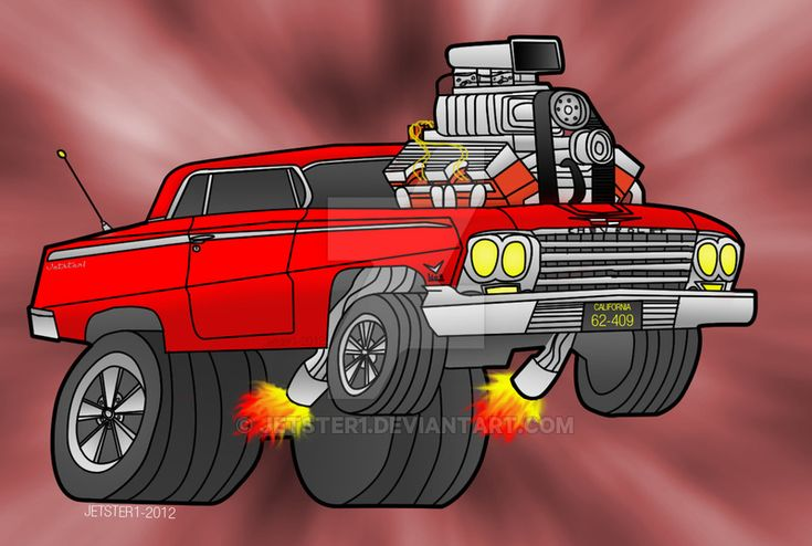 This art started out as a sketch ([link]) I drew in 2008. Colored in Photoshop in 2012. 62 Chevrolet Impala belongs to General Motors and the Artwork belongs to me.