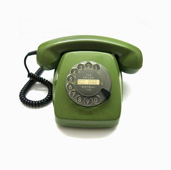 Altes Telefon mit Wählscheibe von Siemens  FeTAp 611-2a