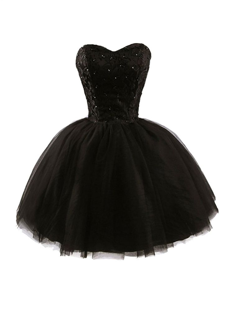 New Arrival Cheap A line Sweetheart Lace Tulle Black Homecoming Dresses Short Prom Dress Gown 2015 Little Black Graduation Dress(China (Mainland))