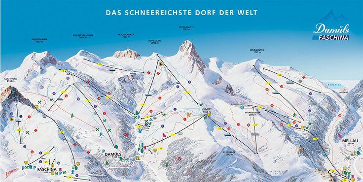 Skigebiet Damüls; Skifahren im Großen Walsertal im Arlberg: www.hikeandbike.de