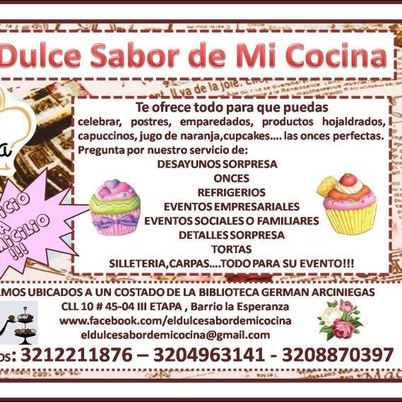 Informacion de EL DULCE SABOR DE MI COCINA. ***3212211876