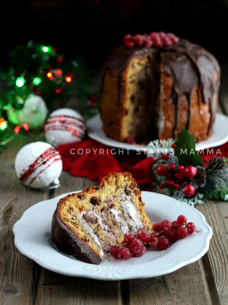 Panettone ricetta farcito con gelato facile veloce senza cottura dolce per Natale Statusmamma food photograpy photo giallozafferano video