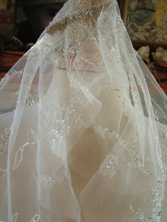Kate Moss style wedding veil vintage style by RetroVintageWeddings, $699.00