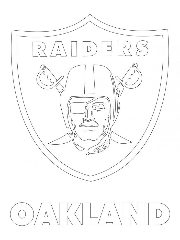 oakland raiders logo | Oakland Raiders Logo Coloring Page Viewing Gallery