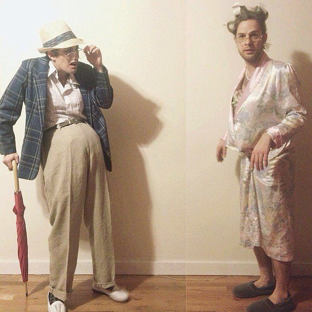 Old Couple costume. This is fabulous and I love how they switched roles.