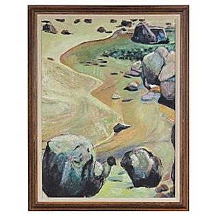 Vintage California Rocky Shoreline Scene, available at Serena & Lily. #serenaandlily: Rocky Shorlin, Shorelin Scene, Heart Art, California Rocky, Vintage California, Art Collection, Rocky Shorelin