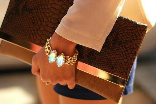 Clutch and bracelet