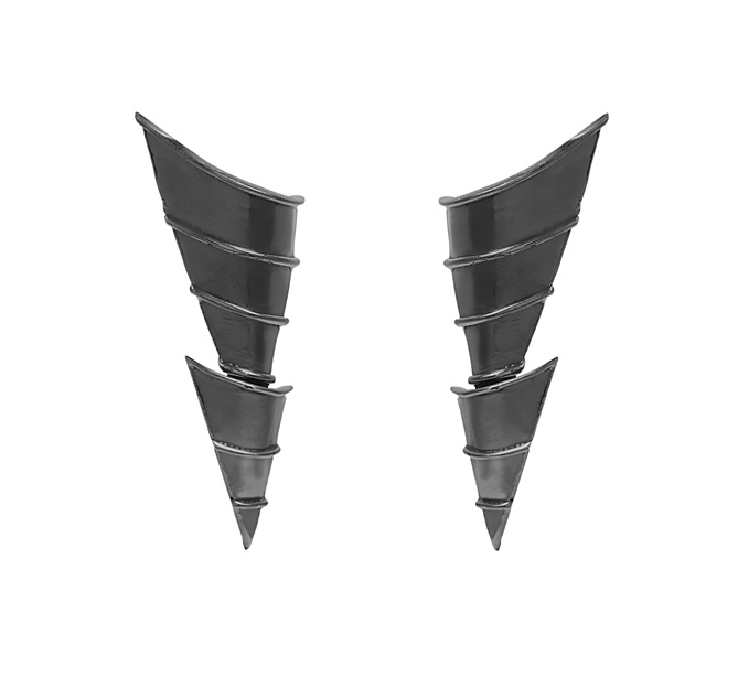 Giuliana Mancinelli Bonafaccia - Earrings with silver dipped in black ruthenium.