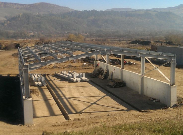 Metallic Hall for Wastewater Treatment Plant Darmanesti - Steel Structures Buildings - Duna-steel.ro