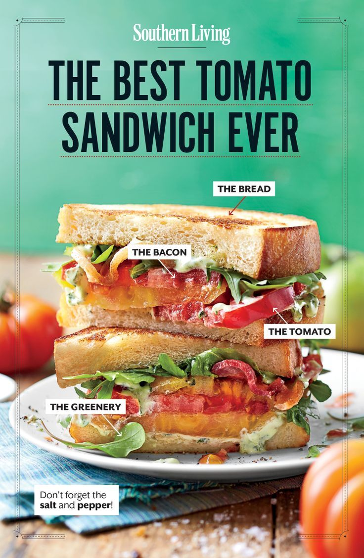 17 Ways to Build a Better Tomato Sandwich via Southern Living