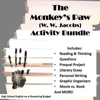 the best the monkey s paw ideas teaching short  the monkey s paw activity bundle w w jacobs