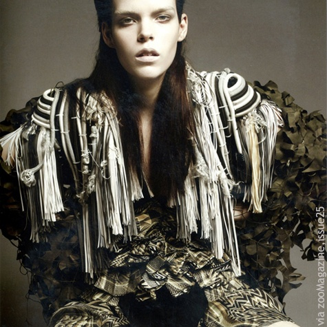 Fashion trend in knitwear, camouflage