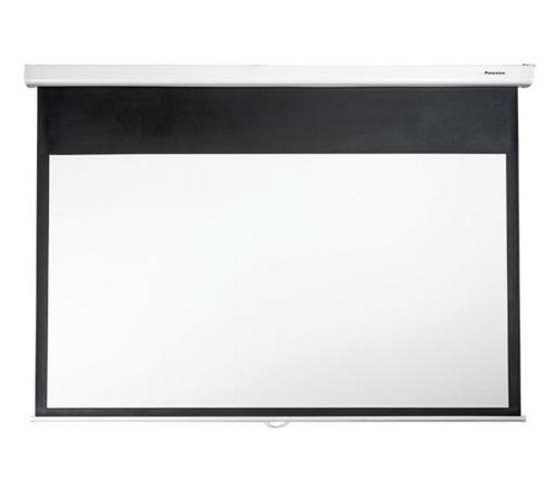 """Buy OPTOMA  84"""" Widescreen Projector Screen Price: £89.99 The Optoma 84"""" Widescreen Projector Screen is just the ticket if you're looking to get more out of your home cinema. It is wall and ceiling mountable and has a stylish white housing. Suitable for widescreen projection, the Optoma 84"""" Widescreen Projector Screen features a manual pull-down screen with level locking system."""