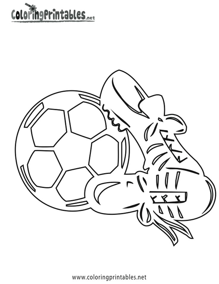football shoe coloring pages - photo#31