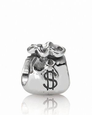 Pandora Charm - Sterling Silver Money Bags, Moments Collection