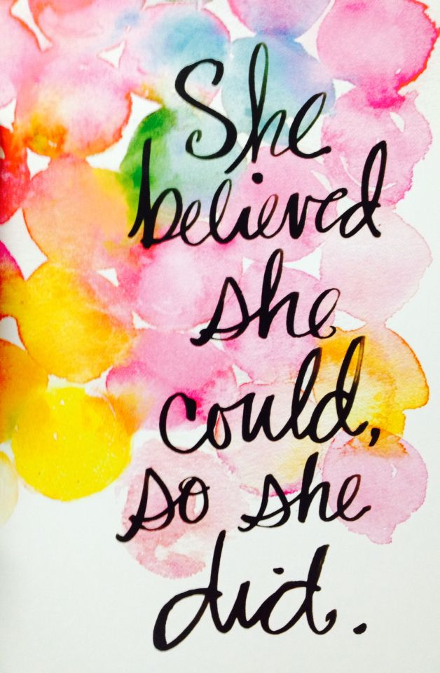 """She believed she could, so she did"" feminism, women's empowerment, feminist quotes, inspirational quotes"