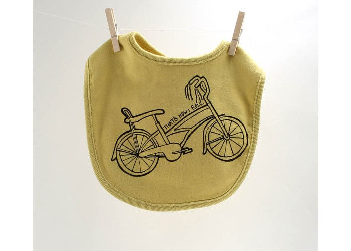 Cool Bike Baby Bib. Price: £10.37, available from Etsy.