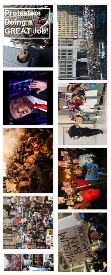 Protesters doing a GREAT democratic service deserve a BRAVO! http://edition.cnn.com/2017/02/12/americas/mexico-trump-protest/index.html https://en.wikipedia.org/wiki/Protests_against_Donald_Trump http://www.huffingtonpost.com/entry/british-petition-donald-trump_us_588e82d5e4b0b065cbbccd38