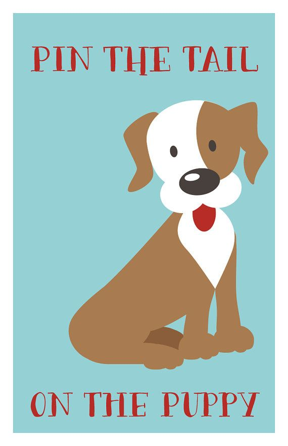 INSTANT DOWNLOAD Pin the Tail on the Puppy by DelightPaperie                                                                                                                                                                                 More