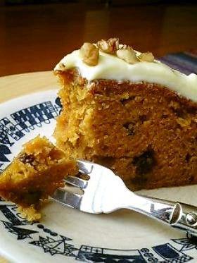 ほどよい甘さのキャロットケーキ