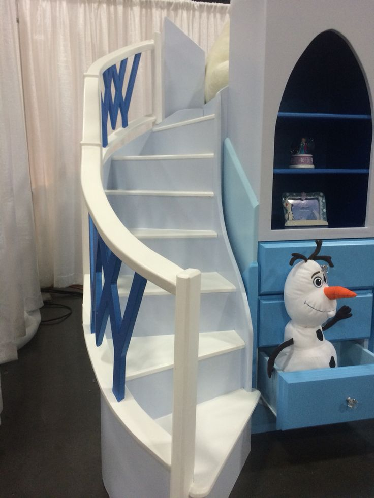 Frozen Theme Bed Staircase Frozen Bed Built By Me Can