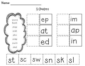 cut and paste consonant blends this packet contains 3 worksheets with consonant blends. Black Bedroom Furniture Sets. Home Design Ideas