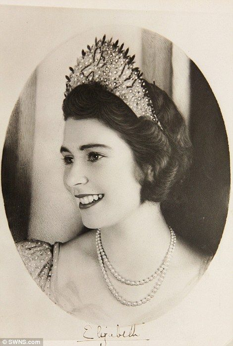 Queen Elizabeth II when she was an 18 year old Princess