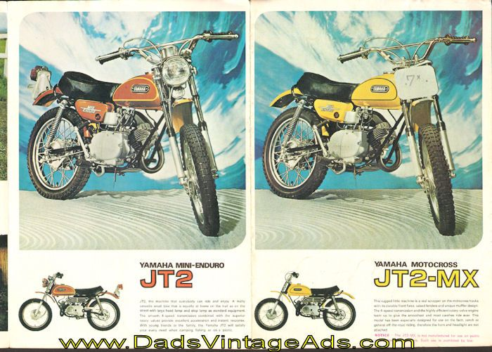 1972 Motorcycle Brochure – Yamaha Mini-Enduro JT2 and Yamaha Motocross JT2-MX…